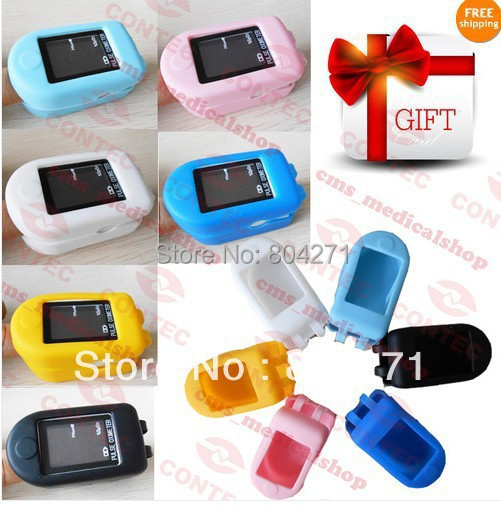 FFree rubber case gift +Fingertip Pulse Oximeter Spo2 Monitor ,Fast  shipping CONTEC Brand CE&amp;FDA<br><br>Aliexpress