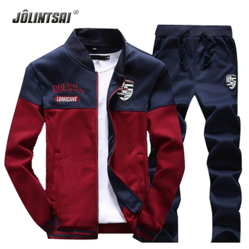 2016 Spring Autumn Polo Sweat Suit Print Long Sleeve Men's Tracksuits Sets Casual Sweatshirt Plus Size XXXXL Hoodies Pants Men(China (Mainland))