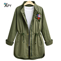 High quality Slim women jacket solid color long sleeved large flower decals flower drawer was thin