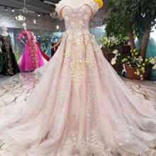 Pretty Blush Pink Long Prom Dresses 2018 Arabic Beaded Crystal Tulle Prom  Gowns Deep Glitters Blings 0157a8f5956e