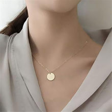 Bohemian Vintage Coin Necklace For Women 2019 New Fashion Jewelry Simple Metal Bar Pendant Chocker Necklace Chain Collier(China)