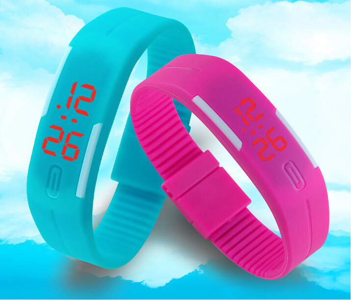 2015 Fashion Sport LED Digital Watch Candy Multi-Color Silicone Rubber Touch Screen Watches Waterproof Wristwatch saat - Top Shop store