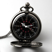 Hot Retro Steampunk Roman dual display Bronze pocket watch Necklace Pendant for men and women Gift Dial 45mm P263