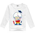 Ilkbahar sonbahar moda çocuk giyim gömlek kız çocuğun t shirt uzun kollu t-shirt bebek kız erkek giysileri