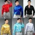2016 Male costume shirt paillette male costume formal dress clothes The wedding dress singer s clothing