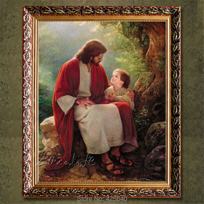 Wall Art Household adornment Christ Jesus loved children decorative picture print on the Giclee wall stickers home decor(China (Mainland))