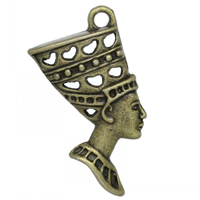 Charm Pendants Egyptian Egypt Queen Nefertiti Antique Bronze 3.9x1.9cm,20PCs Mr.Jewelry(China (Mainland))