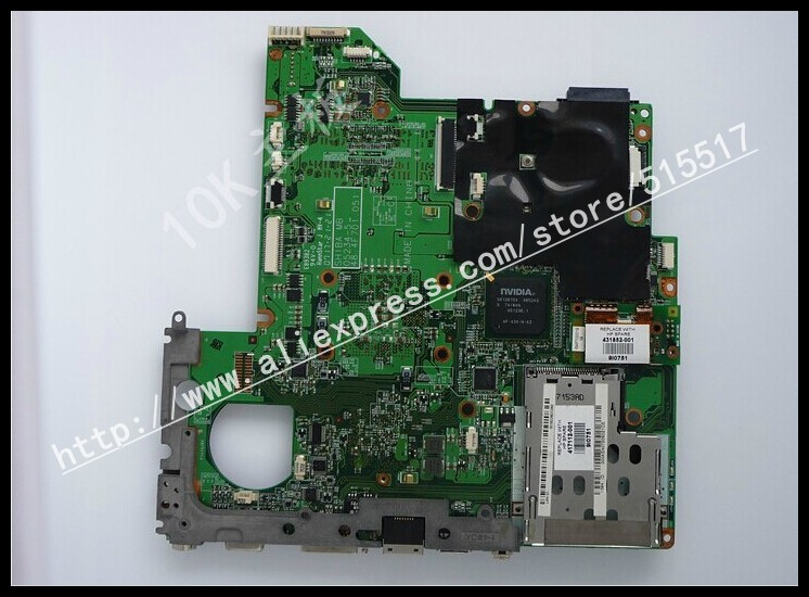 Notebook mainboard 447805-001 logical system board PM for HP DV2000 V3000 motherboard with AMD free shipping(China (Mainland))