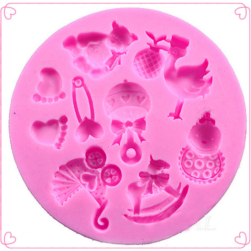 Fondant Silicone Mold for Cake Decoration