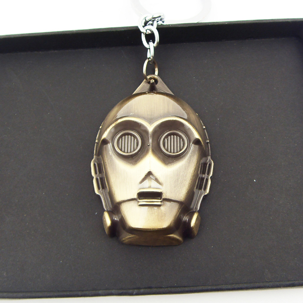 Fashion Movie Necklace Star Wars Jewelry Star Wars Robot Bronze Plated Pendant Necklace 10PCS/LOT(China (Mainland))