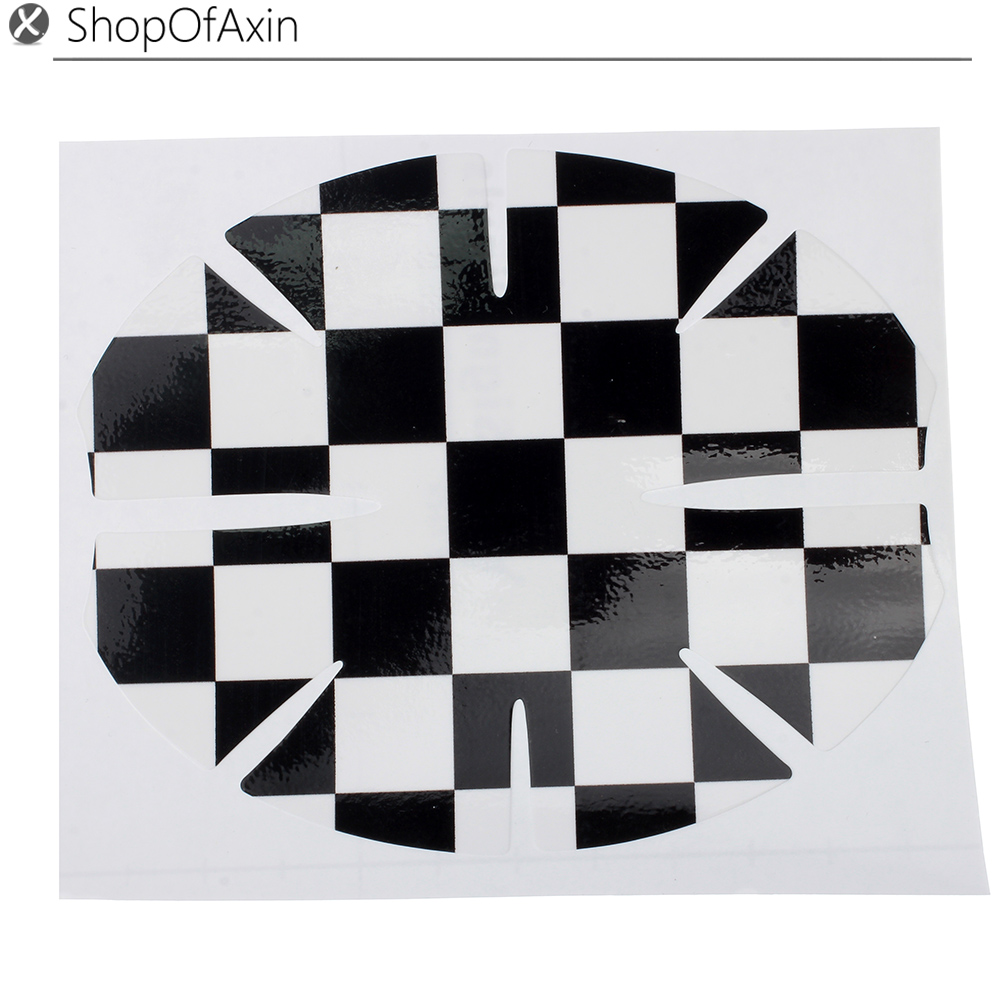 2Pc Car door bowl Sticker Checkered Rasing flag Handle Scratch Guard Protector for Mini Cooper(China (Mainland))
