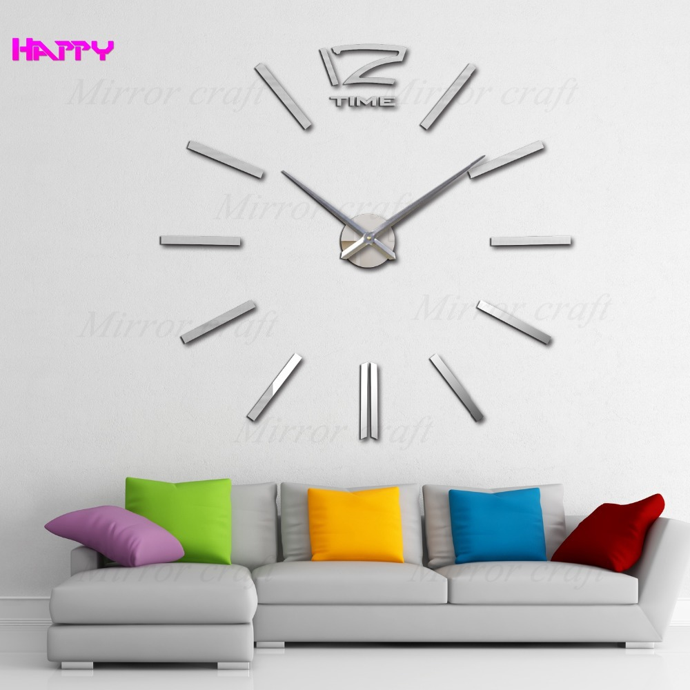 2015 New Home home Decor Big Digital Wall Clock Modern Design,Large Decorative Designer Clocks.Watch Hours,Unique Gift