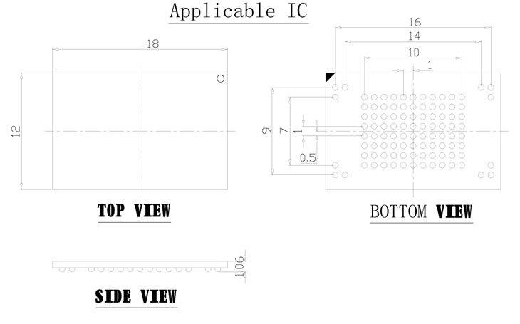 eMMC100 socket USB Tectep BGA100 tester Nand flash Reader