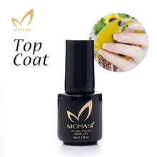Easy Soak Off Gel Nail UV LED Lamp Gel Polish Clear No Wipe Top Coat Base Coat Vernis Semi Permanent Gel Varnishes Gelpolish