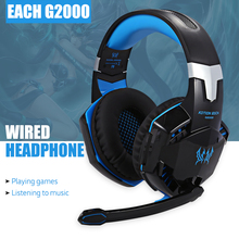 EACH G2000 Deep Bass Game Headphone Stereo Surrounded Over-Ear Gaming Headset Headband Earphone with Light for Computer PC Gamer(China (Mainland))