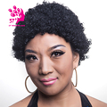 Synthetic Short Wigs For Black Women Black Kinky Curly Hair Pixie Cut Wig Natural Hair Wigs