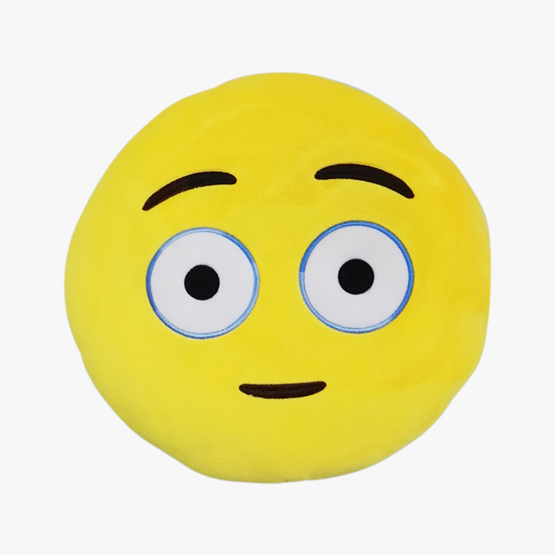 Emoji Pillow ,Yellow Round Cushions Home Decorative Pillows Stuffed Plush Soft Toy Doll 18 Emoticon Girl Gift - Shengda Co.,Ltd store