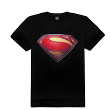 2015 New Fashion 3D t shirt for men rock& roll tee,super man print,Creative personality short sleeve men's t-shirt campaign(China (Mainland))