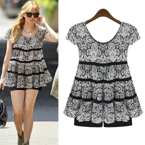 Женское платье Women summer dress XXXL 4XL XXXXXL 2015 summer dress 2014 женское платье summer dress 2015 2015 summer women dress
