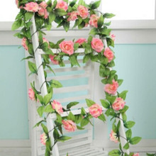 Hanging Garland Artificial Fake Silk Rose Flower Ivy Vine