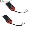 Ecosin2 2PCS USB 2 0 Micro SD SDHC TF Flash Memory Card Reader Mini Adapter For