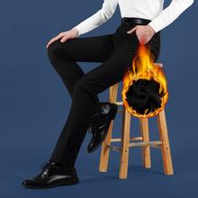 Men Winter Thickened suit pants Black(Grey) Dress pants Cashmere men suit pants twill men suit trousers(China (Mainland))