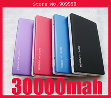 2 Usb Port 30000MAH Power Bank portable charger External Battery for iphone,samsung galaxy S3(China (Mainland))