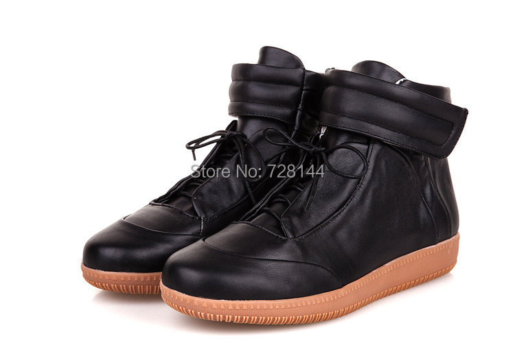 martin mars casual shoes lace high top VELCRO designer genuine leather leisure - king leo's store