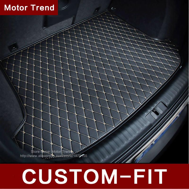 Custom fit car trunk mat Hyundai ix25 ix35 Elantra SantaFe Sonata Solaris verna Veloster carstyling tray carpet cargo liner - Motor Trend store
