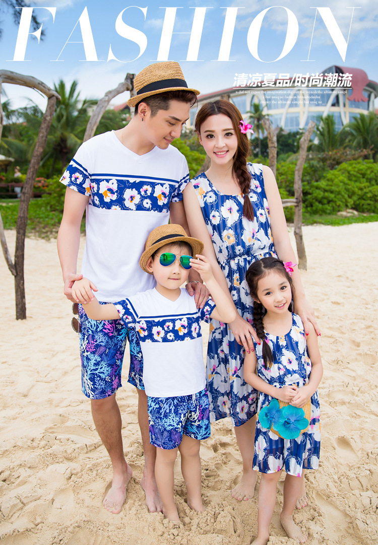 Summer Beach Family Look Mother Daughter Dresses Father Son Clothes Matching Family Clothes ...