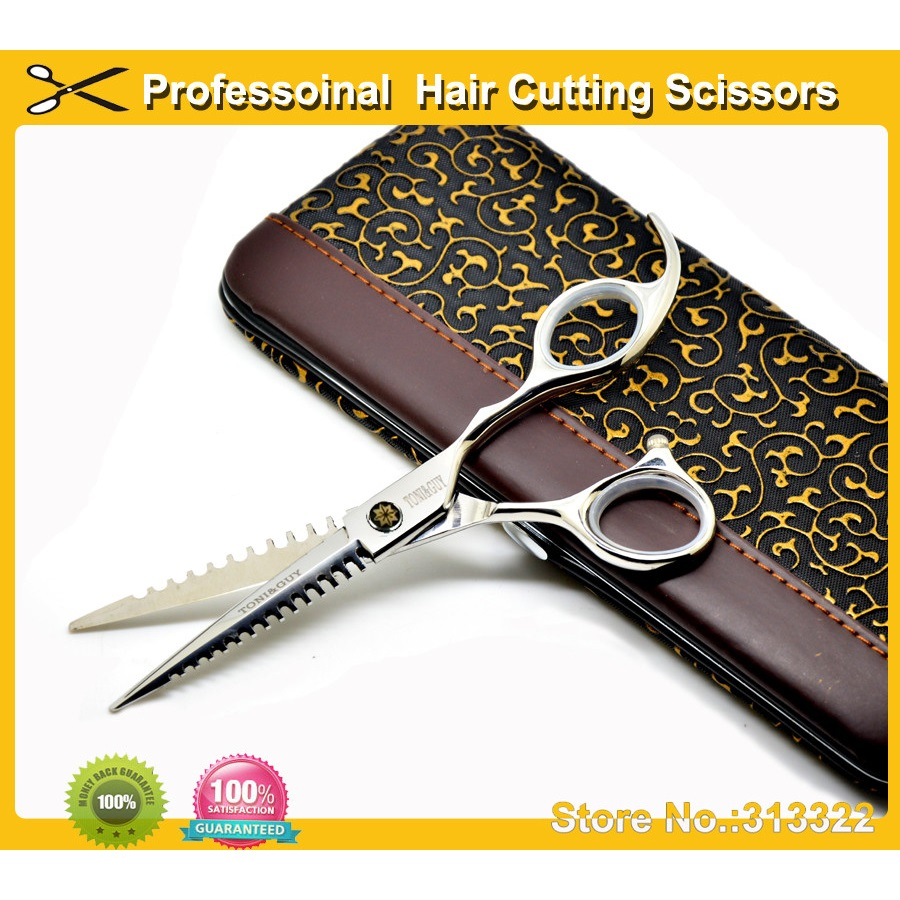 Free Shipping professional hair cutting shears japanese stainless steel 440C barber shop supplies razor cutting scissors(China (Mainland))