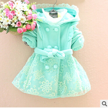 2015 autumn and winter new arrival babi girl jacket Coats for children child plaid cardigan thickening outerwear trench top(China (Mainland))