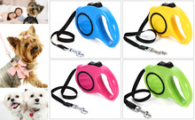 Hot On Sale ! New And Elegent  3m Automatic Retractable Pet Dog Leash Extending Walking Dog Lead Adjustable Support Wholesale(China (Mainland))