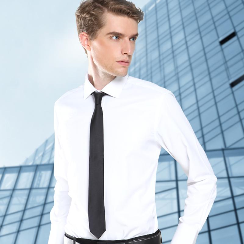 Men shirt long sleeve slim fit no iron men clothing fashion brand mens dress shirts