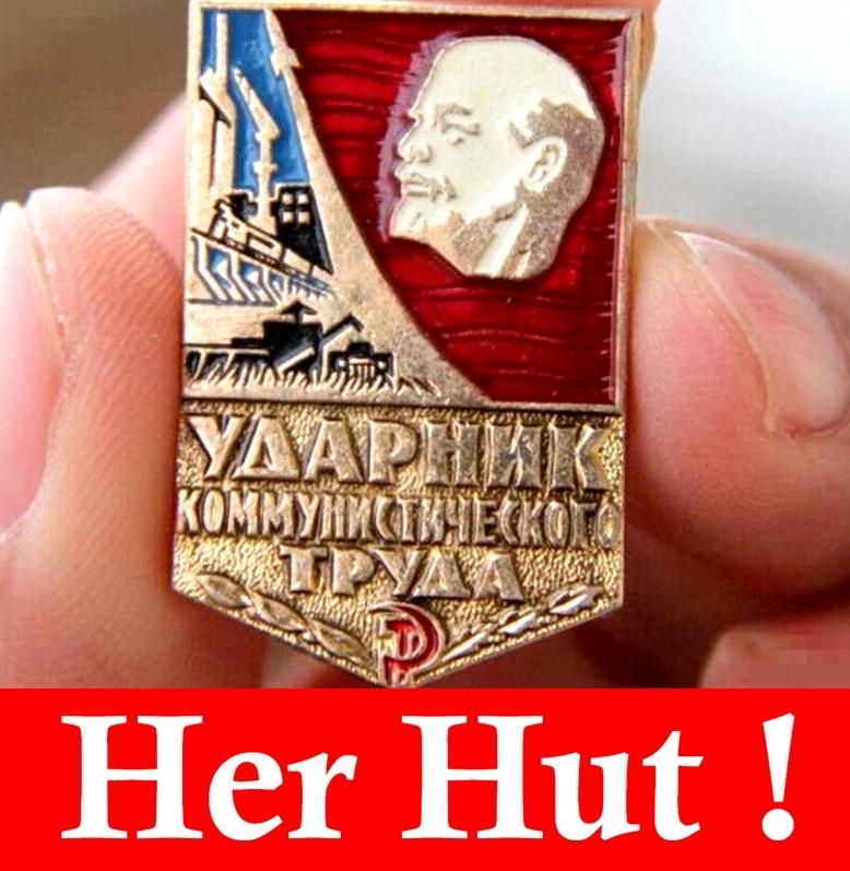 Free Shipping High Quality Badge Medal Original USSR Soviet Socialist Labor Model Udarnik Badge(China (Mainland))