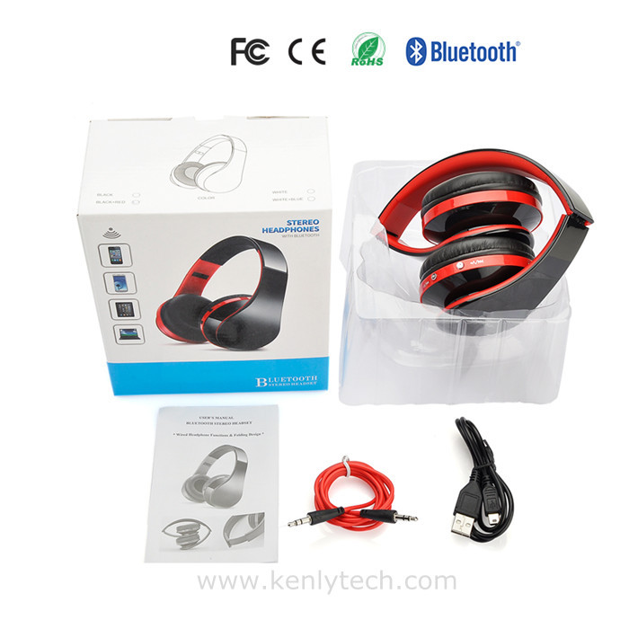 Wireless foldable bluetooth headphones for mobile phone laptop Free shipping(China (Mainland))