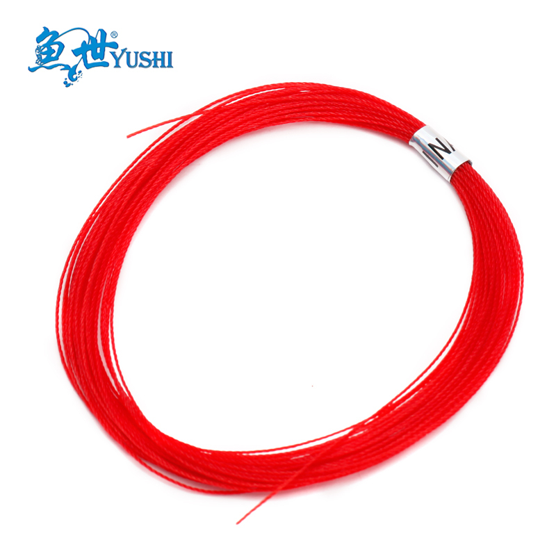 5pcs Fish red line red string bomb homulus line wear-resistant line red line long 8 meters bag(China (Mainland))