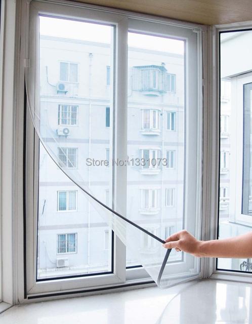 Hot vente adh sif velcro style bricolage fen tre net filet for Adhesif pour fenetre