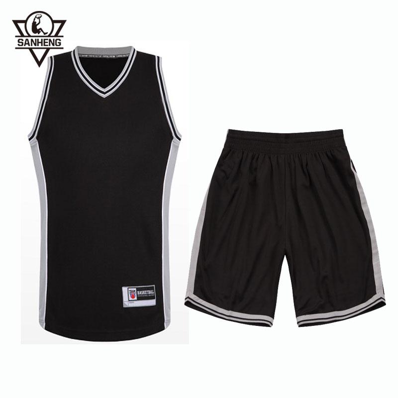 2016 European Big Size XS-3XL Brand SANHENG College Basketball Jerseys Set 301AB(China (Mainland))