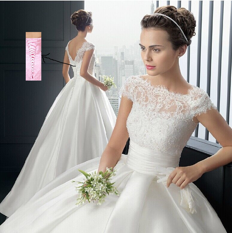 ZJ6001 Strapless white ivory Sweetheart Bridal Wedding Dress Formal Gown Free Shipping with sleeve lace(China (Mainland))
