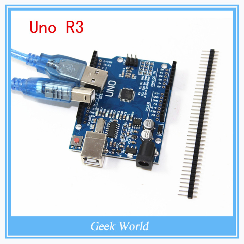 10PCS High quality UNO R3 MEGA328P CH340 CH340G for Arduino UNO R3 + USB cable