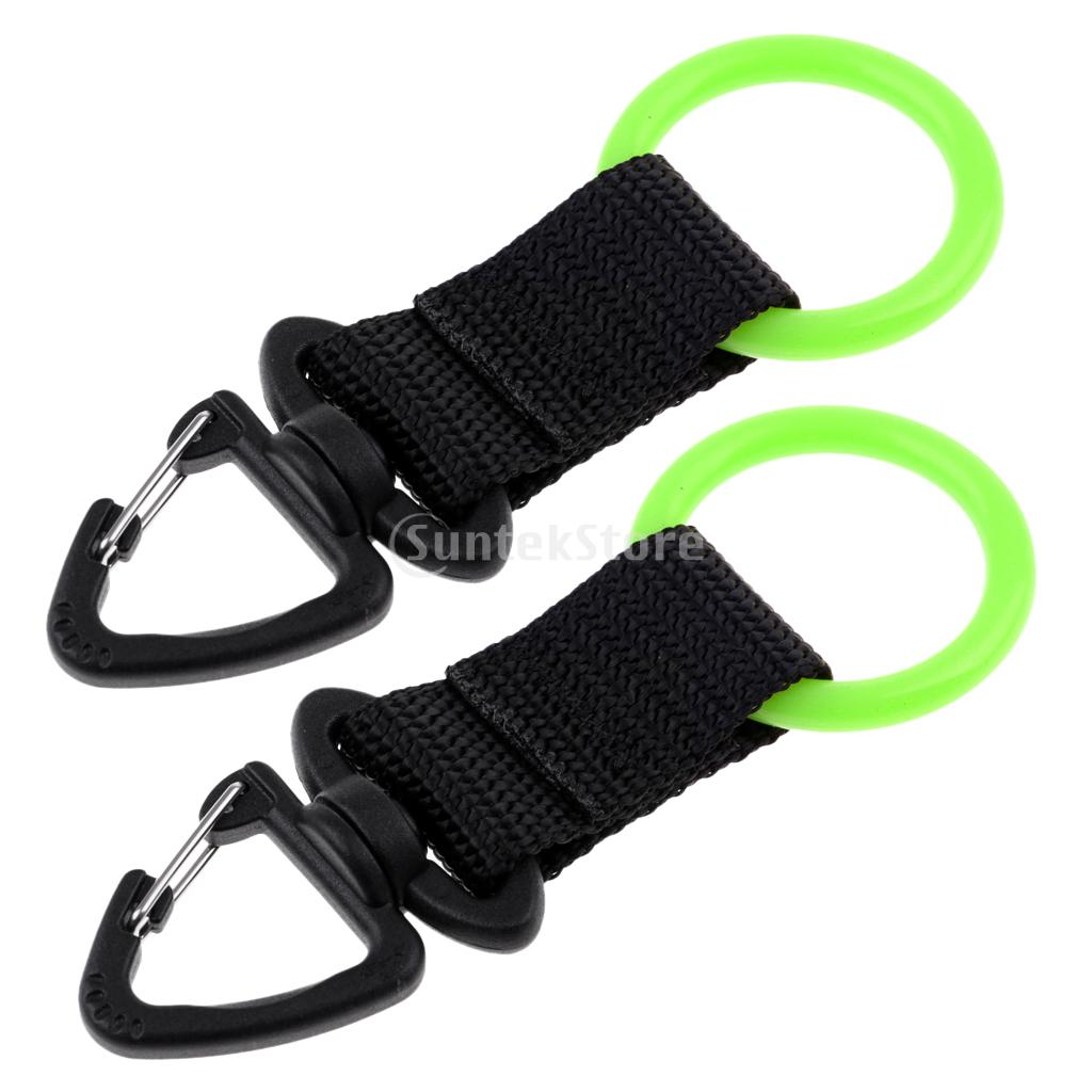 Pack of 2 Mouthpiece Holder Regulator Octopus Retainer Clip Lanyard Scuba Diving Snorkeling Gear Equipment Accessories