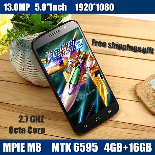 "Original Smartphone 3G one M8 MTK6595 Octa Core 5.0"" 1080P 4GB RAM 16GB ROM Dual Sim 13.0MP Camera android cell Mobile Phone(China (Mainland))"