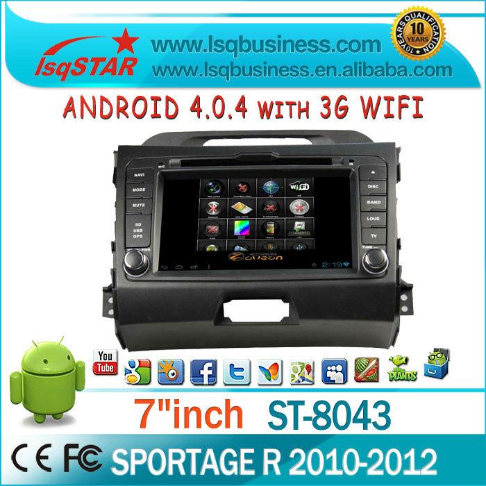 lsqstar autoradio for kia sportage R with gps navigation radio 3G WIFI dvd ipod phone book bluetooth aux in...Hot selling!(China (Mainland))