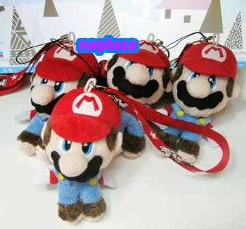 Free shipping Super Mario Bros. PLUSH doll Cell Phone Charm Soft toy Wholesale and Retail