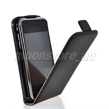 COW SKIN LEATHER FLIP POUCH CASE COVER FOR APPLE IPHONE 3G 3GS FREE SHIPPING