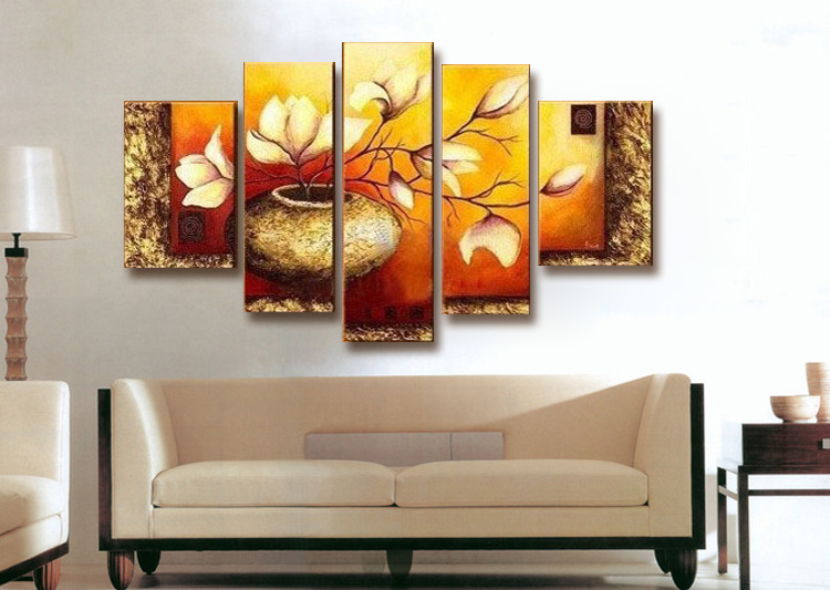 Home decoration wall art hand painted multi panel canvas wall art sets oil painting on - Paints for exterior walls set ...