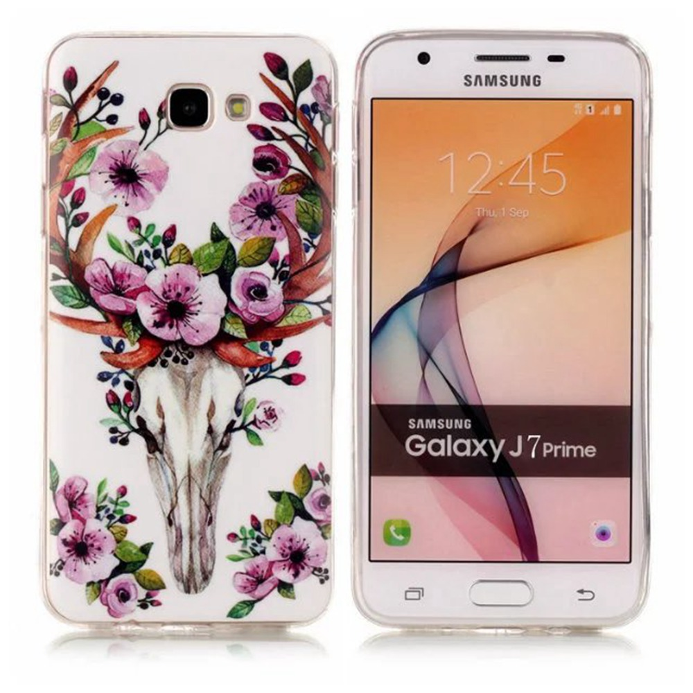 For Samsung J7 Prime 5.5 Inch New Arrival Owl Flower Luminous Soft TPU Cover Protective Case for Samsung J7 Prime(China (Mainland))