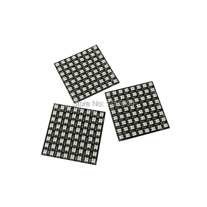 5PCS 8*8 Square WS2812 Pixel Display Panel 5050 LED Matrix Vido Word Numbers Flexible Color Screen