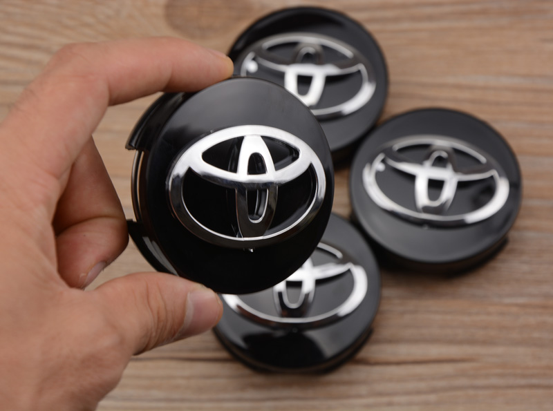 4pcs Free shipping Black/silver 62mm Toyota Corolla car emblem Wheel Center Hub Caps Wheel Dust-proof badge with lable <br><br>Aliexpress